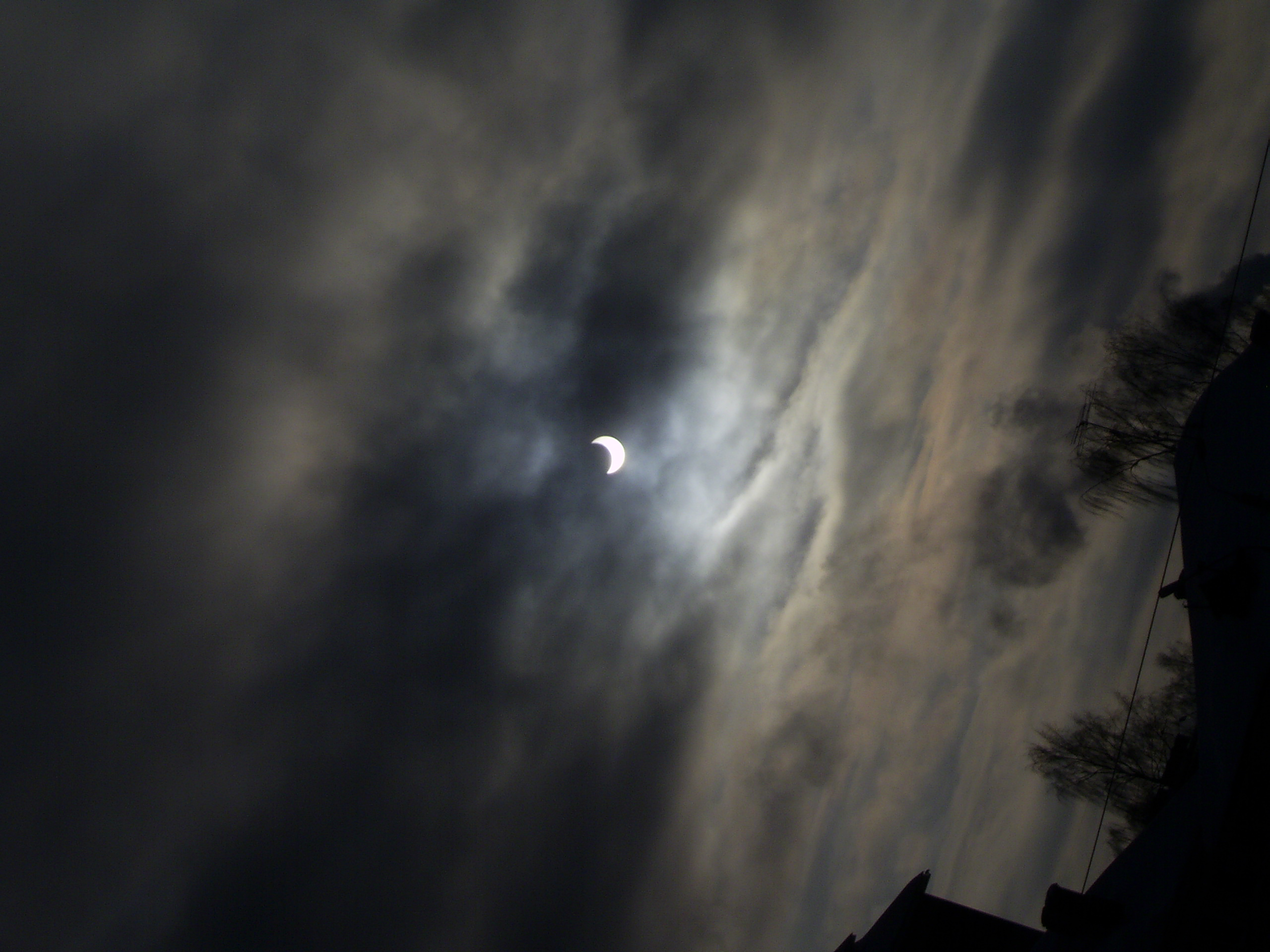 Partial solar eclipse 01/04/2011 as seen from Tver